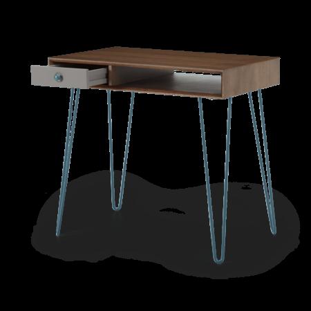 Dotty Desk, Dark Stain Oak & Grey